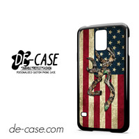 Browning Deer Camo American Flag Wood For Samsung Galaxy S5 Case Phone Case Gift Present