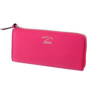 Gucci Women's Swing Blossom Pink Quarter Zip Wallet 368232