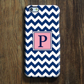 Blue Chevron Monogram iPhone 6 Case iPhone 6 plus Case Custom iPhone 5S Case iPhone 5C Case iPhone 4S Case Galaxy S6 Edge S5 Case 116