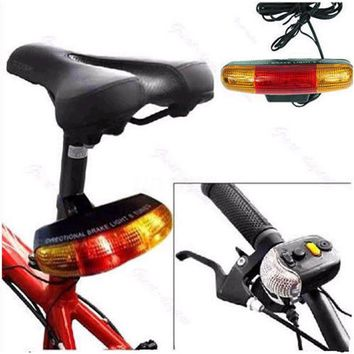 7 LED Bicycle Turn Signal Brake Light Lamp Directional 8 sound Horn Fixed mount Set Bicycle Light Safety in the Dark Biciclette