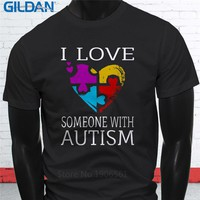 Love Someone With Autism Short Sleeve Mens T Shirts