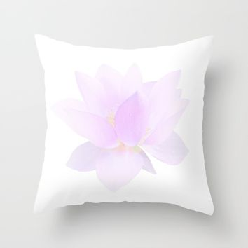 Morning Dew on the Petals Throw Pillow by Lena Photo Art