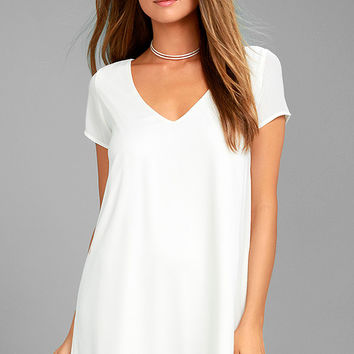 Freestyle White Shift Dress