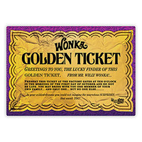 Willy Wonka Golden Ticket Tin Sign
