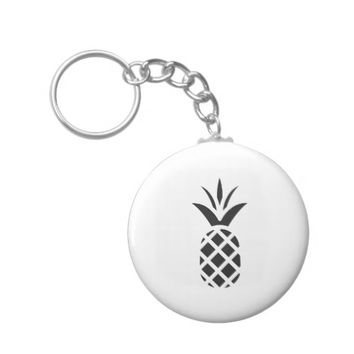 Black Pine Apple Keychain