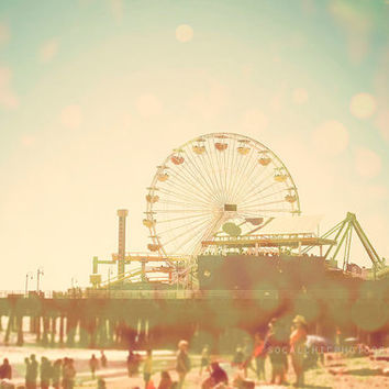 beach photography, santa monica, pier, california, los angeles, mint, bokeh, seaside, ocean, venice, surf