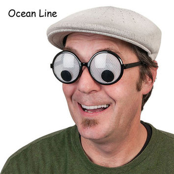 Funny Googly Eyes Goggles Shaking Eyes Party Glasses and Toys for Party Cosplay Costume and Halloween Party Decoration