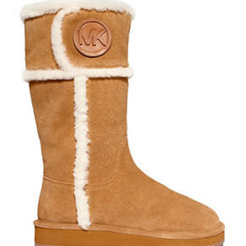 12af44e28 MICHAEL Michael Kors Shoes, Winter Shearling Tall Cold Weather Boots -  MICHAEL Michael Kors - Shoes - Macy's