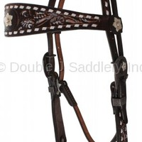 Brown Vintage Painted Headstall - H1124