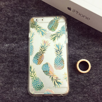 Transparent Pineapple Case for iPhone