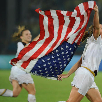 Christie Rampone US Flag Women's Soccer Poster 11x17