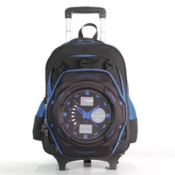School Backpacks Boys School Bags Large Capacity Knapsack Student Rolling Backpack Laptop Bag Travel Backpack for Girls