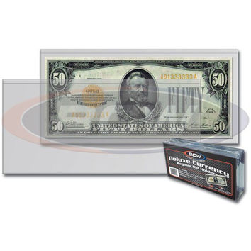 BCW DELUXE CURRENCY HOLDER – REGULAR BILL (PACK OF 50)