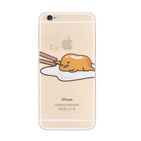 Gudetama Sleep Lazy Nope iPhone 6s 6 Plus Transparent Clear Soft Case