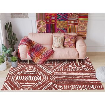 Autumn Fall welcome door mat doormat Modern Fashion Indian Ethnic/National Style Red White  Bathroom  Parlor Living Room Bedroom Decorative Carpet Area Rug AT_76_7