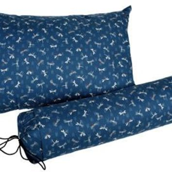 J-Life Tombo Blue #2 Buckwheat Hull Pillow