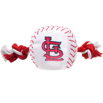 St Louis Cardinals Baseball Toy - Nylon w/rope