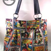 Classic Tote made with Captain America fabric