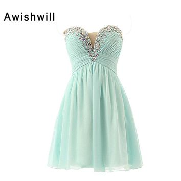 Real Photo Short Cocktail Dresses 2018 Masquerade Prom Gowns Special Occasion Cocktail Party dresses Girls Homecoming Dress