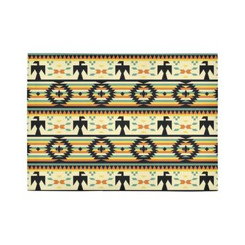 Native American Birds Pattern Area Rug7'x5'