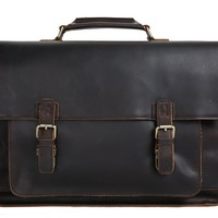 BLUESEBE MEN LEATHER BRIEFCASE/MESSENGER BAG 7205L