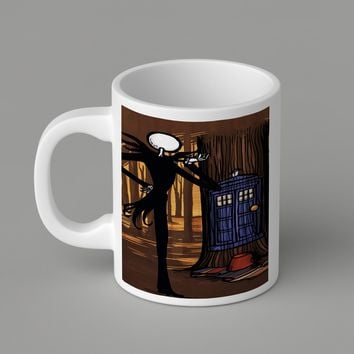 Gift Mugs | Nightmare Before Chrismast Jack Skellington Tardis   Ceramic Coffee Mugs