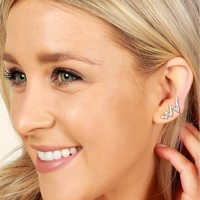 Diamond Lightening Earrings Gold
