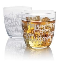 Happy Tumbler in Bar and Drinking Glasses | Crate&Barrel