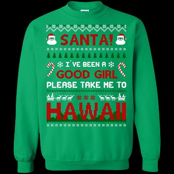 Santa I've Been A Good Girl Please Take Me To Hawaii