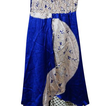 Mogul Womens 2 In 1 Strapless Dress Maxi Skirts Gypsy Vintage Sari Two Layer: Amazon.ca: Clothing & Accessories