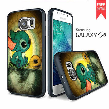 Stitch And Turtle Cute Samsung Galaxy S6 edge Case