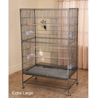 Bird Cages & Aviaries: Prevue Wrought Iron Flight Cage w/ Stand