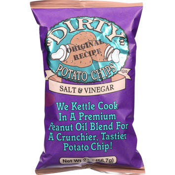 Dirty Chips Potato Chips - Salt and Vinegar - 2 oz - case of 25