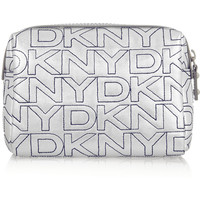 DKNY Metallic leather cosmetics case – 50% at THE OUTNET.COM