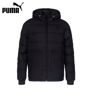 New Arrival Authentic Puma Men's Down Coat Breathable Jackets Hooded Sportswear