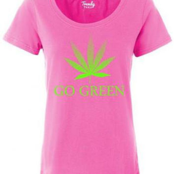 Women Go Green V-neck