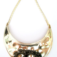 Gold Chest Plate Bib Necklace Napier Statement Jewelry