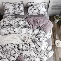 White Marble Pattern Bedding Sets Duvet Cover Set