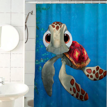 Squirt Finding Nemo shower curtain by jedingwatukali