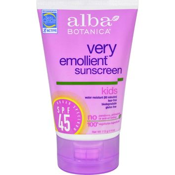 Alba Kids Sunscreen SPF 45 Tropical Fruit - 4 fl oz