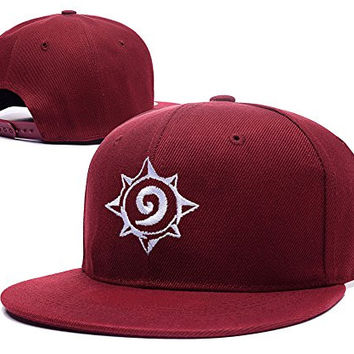 RHXING Hearthstone Game Logo Adjustable Snapback Embroidery Hats Caps - Red