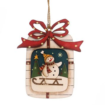 Holiday Ornaments WOOD ORNAMENTS Wood Package Holiday 144259 U