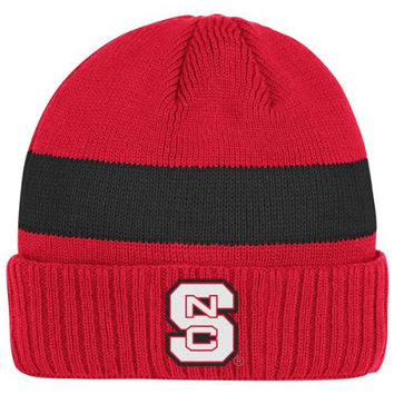 North Carolina State Wolfpack adidas Red Coaches Cuffed Knit Hat