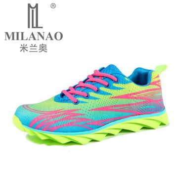 MILANAO Running Shoes Mens Women Sport Sneakers 2016 Mens Sneakers Breathable Walking Shoes Sneakers Women zapatilla mujer