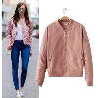 SIMPLE - Fashion Women Long Sleeve Solid Outerwear Jacket Top a13009