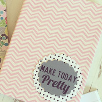 Motivational Journal with pocket. Notebook. Travel Journal. Diary. Make Today Pretty.