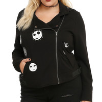 The Nightmare Before Christmas Jack Heads Moto Jacket Plus Size