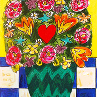 """Love Bouquet"" - Art - Painting Print"