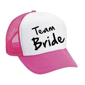 Team Bride Bachelorette party Dual color Trucker Cap