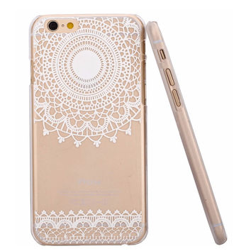 Hot Sale Fashion Beauty Henna mandala flower Painted pattern Floral Paisley Phone Cases Cover Case for Apple iphone 5 5S 6 i6